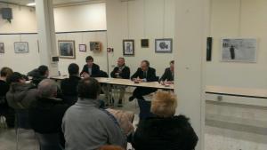 Michele Mognato PD e il Vice Sindaco di Venezia Sandro Simionato intervengono  all'incontro pubblico sul Tributo Tares organizzato dal circolo CPDV