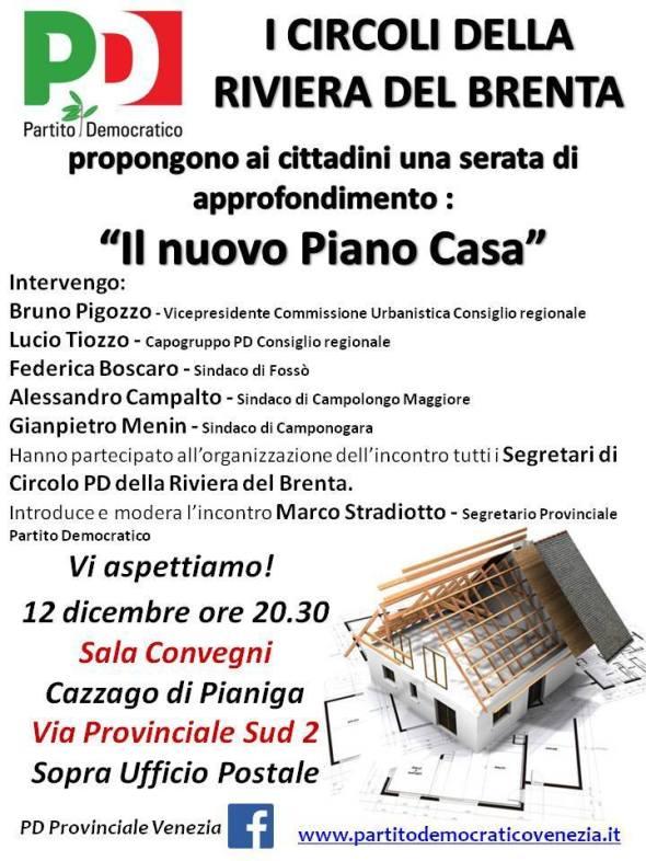 12 Dicembre - IL NUOVO PIANO CASA