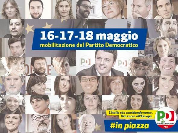 16-17-18 maggio mobilitazione del Partito democratico